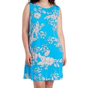 NWT MSK Women's Plus Size Sketched Floral Sleeve